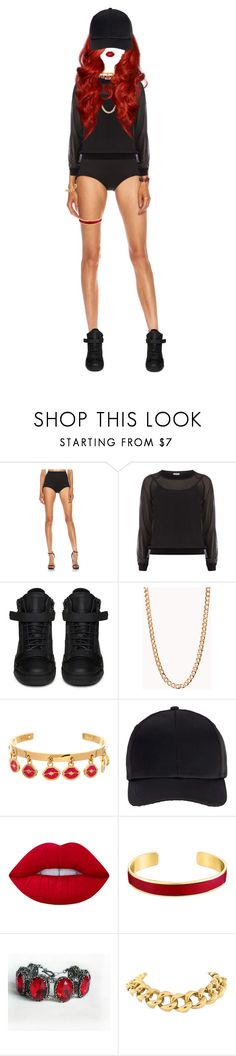 """[ Read Description ]"" by xxeucliffexx ❤ liked on Polyvore featuring Josh Goot, Dorothy Perkins, Giuseppe Zanotti, Forever 21, Maria Francesca Pepe, Miss Selfridge, Lime Crime, VANINA and Seaman Schepps"