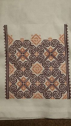 Myslíme si, že by sa vám mohli páčiť tieto piny - tonka. Cross Stitch Borders, Cross Stitch Flowers, Cross Stitch Designs, Cross Stitching, Cross Stitch Embroidery, Cross Stitch Patterns, Hand Embroidery Designs, Embroidery Patterns, Palestinian Embroidery