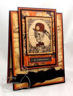 graphic 45 - steampunk spells - halloween card