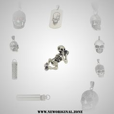 Beginning of the end - Anhänger Pendant - Jewelry Onlineshop Shops, Pendant Jewelry, Diamond Earrings, Skull, Cool Stuff, Collection, Skull And Crossbones, Tents, Retail