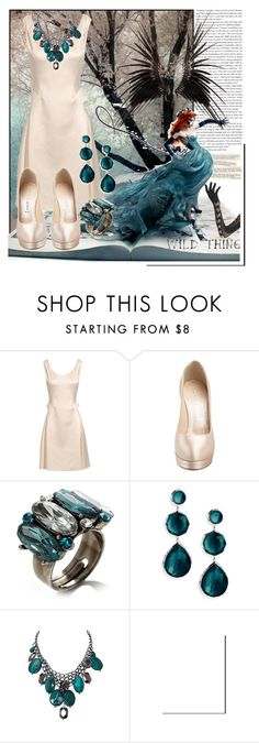 """""""I look quiet but I am wild."""" by velvetnatasha ❤ liked on Polyvore featuring Sarah Jessica Parker, Rebecca Street, Moschino Cheap & Chic, Avalaya, Ippolita, Oasis and Faster by Mark Fast"""
