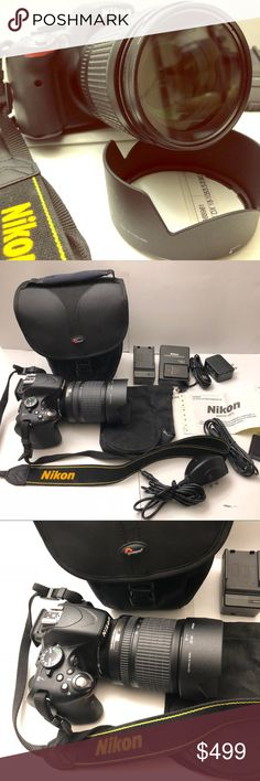 NIKON D5100 w/ AF-S Nikkor 18-105mm Lens NIKON D5100 with Nikon NIKKOR 18-105mm 1:3.5-5.6 G ED  DX SWM VR ED IF Aspherical Lens  Condition: Its barely used and in Excellent condition comes with lens battery and other  accessories included in pictures.  .... PLEASE INSPECT ALL PICTURES....     WHAT YOU SEE IN THE PICTURES IS WHAT YOU ARE GETTING  Lens cover not included but including lens storage bag Other