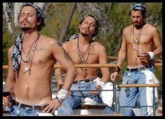 Johnny Depp three times the fun
