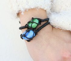 DIY Netted Stone Bracelets