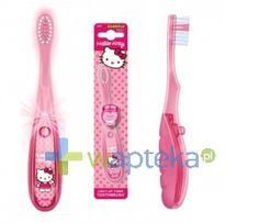A dla małej, w ramach zachęty do czyszczenia ząbków - elektryczna i  świecąca szczoteczka Hello Kitty z timerem, dzięki któremu wiemy ile czasu nasze dziecko powinno myć zęby! Czerwona dioda informuje nas o tym, że czas mycia zębów jeszcze nie minął.Jak dla mnie super sprawa <3