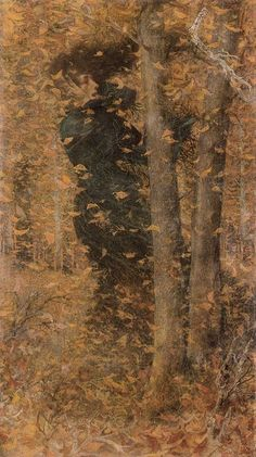 Lucien Levy-Dhurmer (Lucien Levy Dhurmer) (1865-1953) Autumn Oil on canvas o see more works by this artist please visit us at: http://www.artrenewal.org/pages/artist.php?artistid=836  Share your favorite old master works with us! http://www.pinterest.com/ArtRenewal/share-your-favorite-old-master-works/