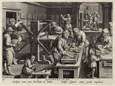 Nova reperta with letters - an Intaglio studio of 1599-1603 with the jobs identified on the original web site