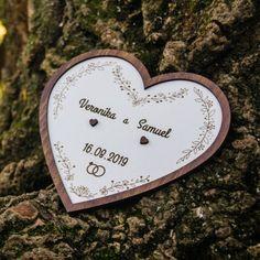 Drevený podnos na prstene srdce Sweet Home, Personalized Items, House Beautiful