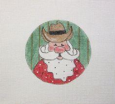 $11.95        Western Cowboy Santa Claus Handpainted by MarsyesShoppe on Etsy