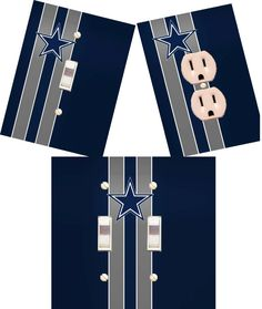 Dallas Cowboys Light switch wall plates covers NFL room decor