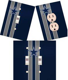 Dallas Cowboys Light switch wall plates by HigginsCraftCorner