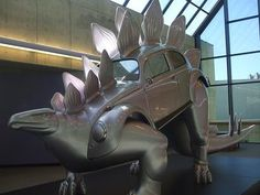 Stegowagenvolkssaurus    By noted artists Patricia Renick. His nickname is Stego. The 20-foot-long by 12-foot-high sculpture is exhibited at Steely Library at Northern Kentucky University.