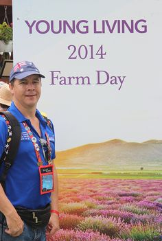 Essential Oils We Trust's, Paul Pike at Young Living Farm Day 2014.
