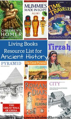 Looking for great living books for ancient history? This booklist for elementary and middle grade kids will help.