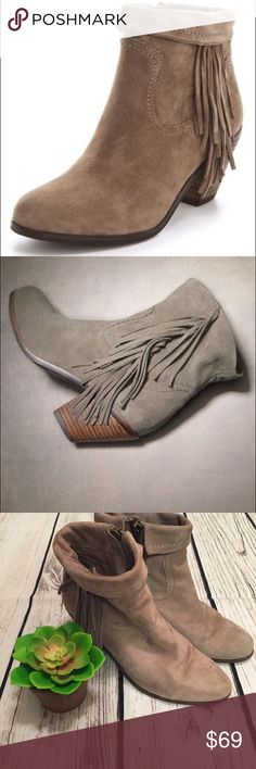 Sam Edelman Fringe Booties 8.5 Good condition with lots of life left. However some marks on feet (shown). 8.5! Sam Edelman Shoes Heeled Boots