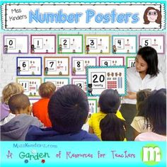 This number poster set contains posters in English, English/Spanish, Spanish, English/French, and French. The cards have numbers, number words, ten frames, tally marks, counting hands and pictures of kids counting. This is now included in the Love to Teach Teacher