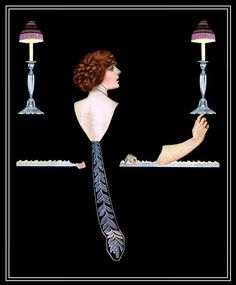 Stunning Illustration by Coles Phillips c.1917