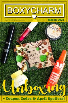 Hey, guys! I'm here with the unboxing of myBoxycharmfor March 2021. I'll tell you a little about Boxycharm, all of the products thatcould bein the #LuckyWithBoxy box, what I gotin mine, plus I've got SPOILERS for the April box and a coupon code so you can get some free stuff, too! #boxycharm #unboxing #spoilers #coupon #beauty #makeup #skincare #haircare #subscriptionbox Holiday Gift Guide, Holiday Gifts, Rose Water Setting Spray, Lip Hydration, Wet Brush, Lip Oil, Shopping Deals, It Cosmetics Brushes