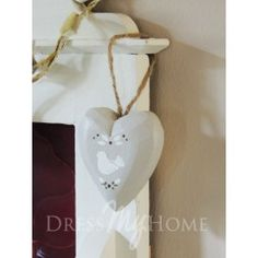 Doves of Peace Wooden Heart I Love Heart, Hanging Hearts, Heart Decorations, Wooden Hearts, Gold Necklace, Peace, Christmas Ornaments, Holiday Decor, Dress