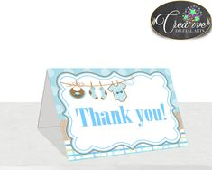 Baby Shower Card Printable ~ Teddy bear baby shower thank you card teddy bear purple winter