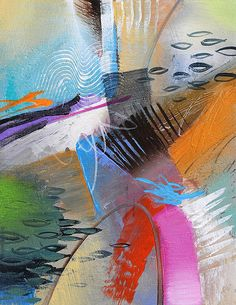 Original Abstract Art Painting - 8.5 x 11 Contemporary Art - COLOR MOTION SERIES #2. This is an Original 8.5 x 11 Acrylic Painting on Canvas with an 11 x 14 double mat (included). It is highly textured with flowing paint, expressive brush strokes and vibrant colors that go with any transitional or contemporary decor. The canvas is not stretched but rather attached to the back on the double mat and ready for any standard size 11 x 14 frame, with or without glass. TITLE: COLOR MOTION SERIES…