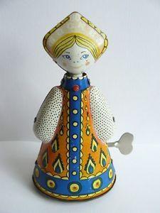 XXII Moscow 1980 Olympics Games Souvenir Wind Up Folk Tin Doll w Key | eBay