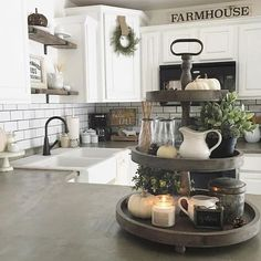 Farmhouse Kitchen Ideas on a Budget – Rustic Kitchen Decor. - - Farmhouse Kitchen Ideas on a Budget – Rustic Kitchen Decor. Farmhouse kitchen ideas on a budget are connected to harmonious style and to a stunning at. Farmhouse Kitchen Cabinets, Farmhouse Furniture, Furniture Decor, Farmhouse Interior, Wooden Furniture, Narrow Kitchen, Rustic Cabinets, Country Furniture, Retro Furniture