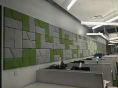 Unika Vaev Domino acoustic tiles.  Available in 16 colorways.