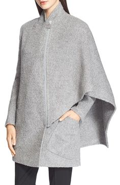 Free shipping and returns on Akris 'Aldona' Alpaca & Wool Cape Jacket at Nordstrom.com. An asymmetrical front zip closure accentuates the modern, draped cut of a double-faced cape crafted from plush alpaca and wool.