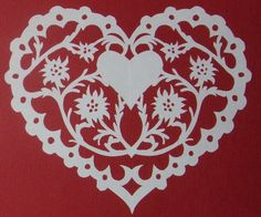 Papercut Edelweiss Heart