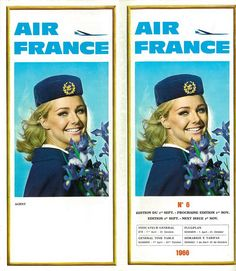 Air France Airline Timetable from 1966