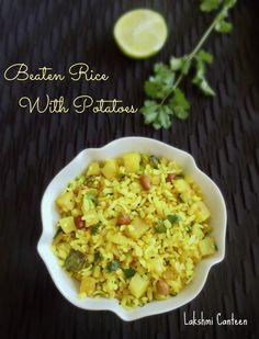 Lakshmi Canteen: Batata Phovu (Beaten Rice With Potatoes)