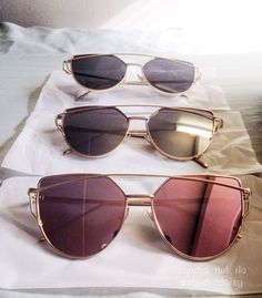 Selling! Women's cateye sunglasses mirror lens in rose gold and black with golden frame $20 or best offer! DM me and check my account for more things I'm selling: http://depop.com/sandradaisy/sandradaisy-womens-cateye-sunglasses-rose-gold