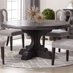 Bastille Round Dining Table w/Concrete Top - Shop for Affordable Home Furniture, Decor, Outdoors and Dinning Room Tables, Solid Wood Dining Table, Dining Table In Kitchen, Round Dining Table, Small Living Room Design, Dining Room Design, Dining Furniture, Home Furniture, Furniture Online