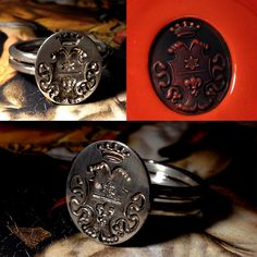 Iron chevaliere with your own family crest or logo