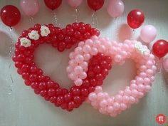 How to Make a Balloon Arch - Balloon Decoration Ideas Balloon Decorations Without Helium, Balloon Arch Diy, Wedding Balloon Decorations, Balloon Display, Balloon Flowers, Balloon Columns, Wedding Balloons, Valentines Day Decorations, Deco Ballon