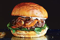 Cheddar Cheeseburger with Caramelized Shallots