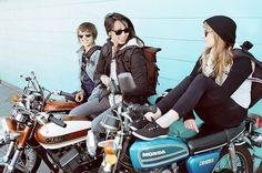 Girls on vintage bikes!