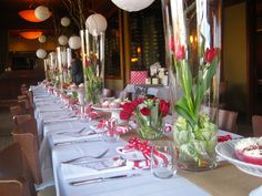 What a great table set up for a bridal shower!