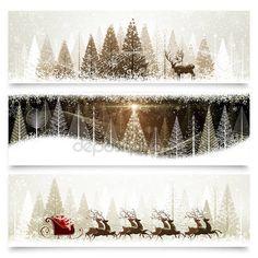 Karácsonyi bannerek — Stock Illusztráció #37541653