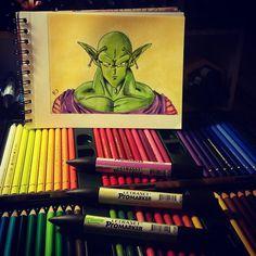 #promarker #polychromos #fabercastelpolychromos #fabercastell #dragonballz #drawing #draw #picolo #satanpetitcoeur