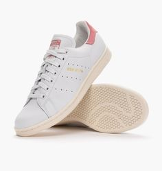 detailed look 0d880 d931b Buy Adidas Originals White Stan Smith Leather Sneakers With Red Contrast -  White - Low-top Sneakers from Reliable Adidas Originals White Stan Smith  Leather ...