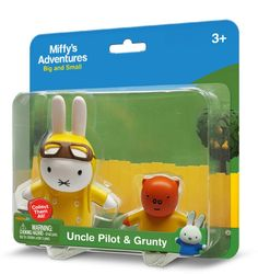 Uncle Pilot & Grunty 2 Pack Miffy Toys £6.99
