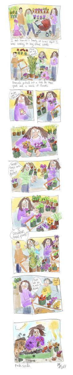 Prepare to Suffer Welcome Poop Autobiographical Comics, Seeds, Store, Garden, Funny, Garten, Larger, Lawn And Garden, Gardens