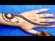 Mehndi Art Designs, Henna Tattoo Designs, Beginner Henna Designs, Mehndi Simple, Create And Craft, Craft Work, Chaat Recipe, Make It Yourself, Tattoos