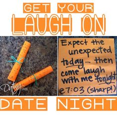 If you're looking to add a little fun into your marriage- then THIS is the date for you!  There's nothing like a little laughter to bring you closer together.  www.TheDatingDivas.com #datenight #creativedate #datingdivas