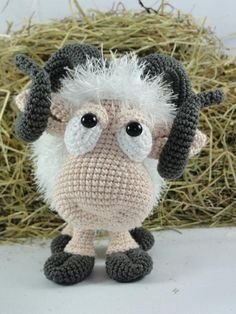 Amigurumi Crochet Pattern Rambert the Ram English Version Crochet Sheep, Crochet Amigurumi, Easter Crochet, Cute Crochet, Amigurumi Doll, Amigurumi Patterns, Crochet Animals, Crochet Dolls, Knit Crochet