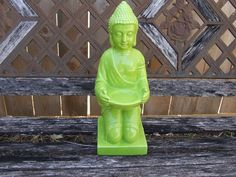 Zen Garden Statue, Yoga Studio Statue, Buddha Sculpture, Indoor Outdoor Decor,Green Figurine, Feng Shui Decor, Asian Garden, Zen Home Decor by BeautyMeetsTheEye on Etsy