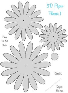 Here is a cute series of Paper Flower Templates. These can be used for Be creative with these, make different patterns, use them flat or roll them to make Thanks for looking. There are 4 of these in the series. Rolled Paper Flowers, Paper Flower Arrangements, Tissue Paper Flowers, Fabric Flowers, Flower Paper, Paper Butterflies, Leaf Template, Flower Template, Crown Template