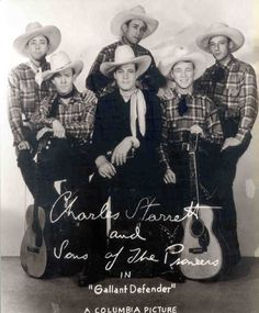 Charles Starrett with Roy Rogers & the Sons of the Pioneers - Columbia Pictures.
